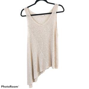 Eileen Fisher Open Knit Asymmetrical Tank Top XL